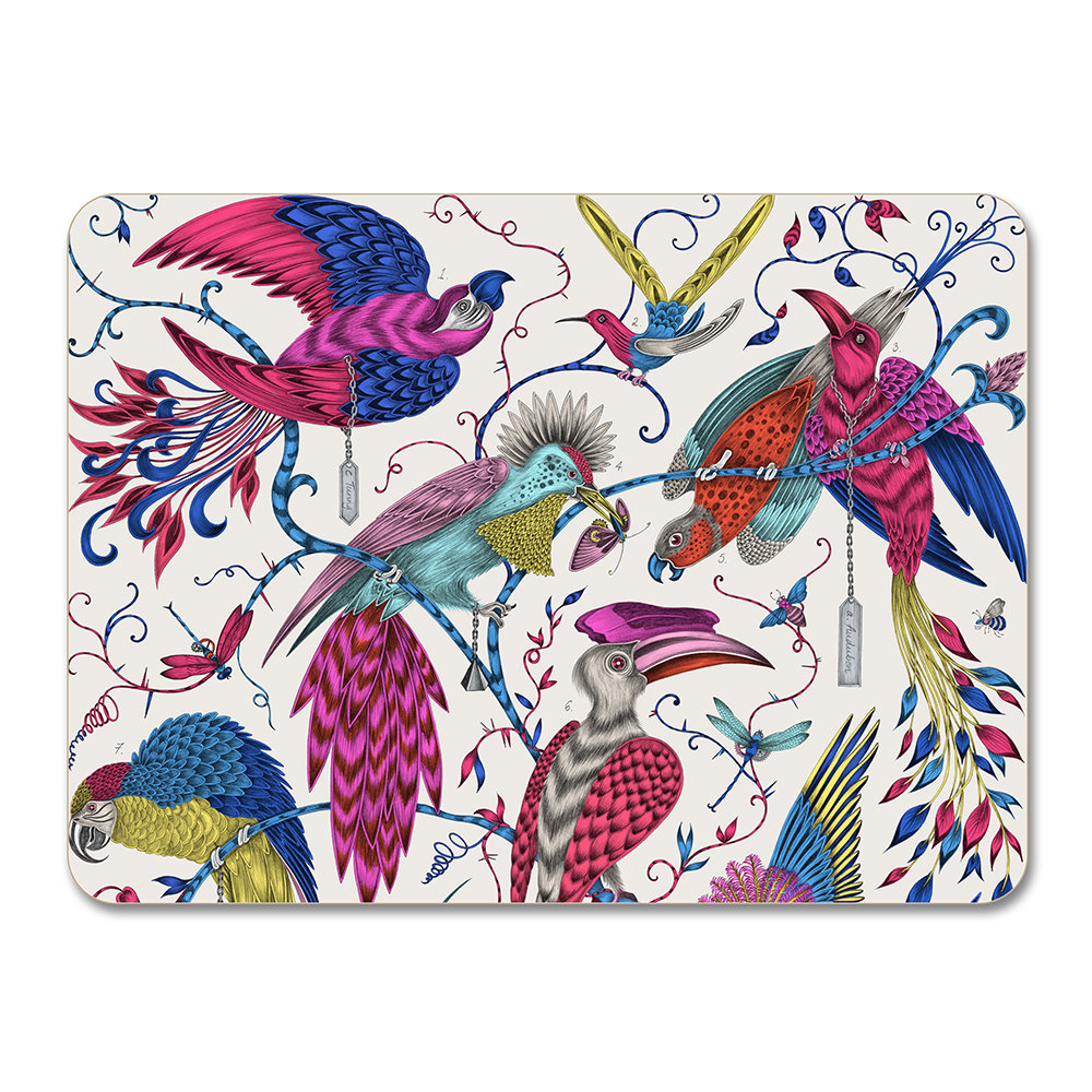Emma J Shipley - Set de Table Audubon - Multicolore