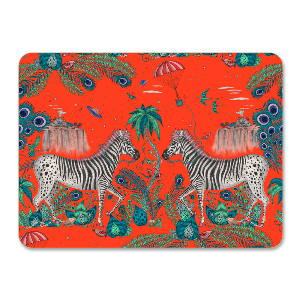 Emma J Shipley - Lost World Placemat - Red