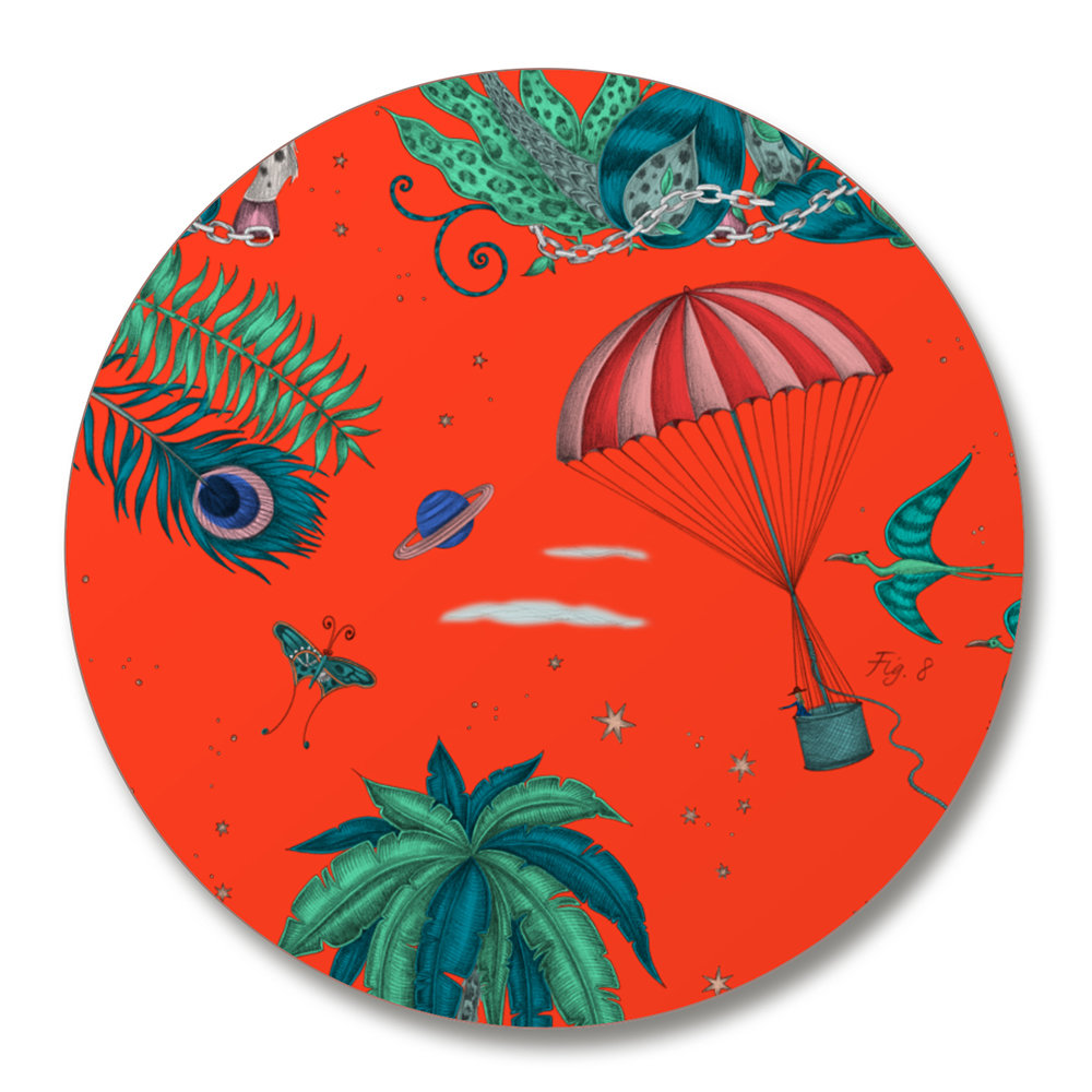 Emma J Shipley - Lost World Coasters - Set of 4 - Red