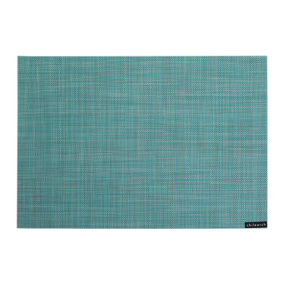 Chilewich - Mini Basketweave Rectangle Placemat - Turquoise