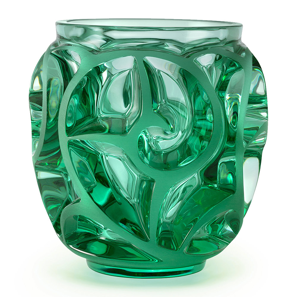 Lalique - Tourbillons SS Vase - Mint Green