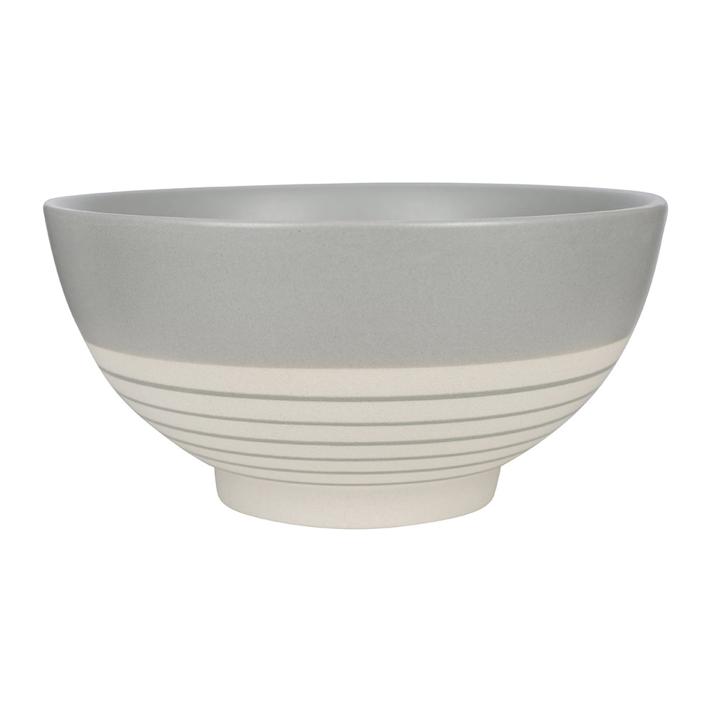 Canvas Home - Clef Stripe Cereal Bowl - Dark Gray