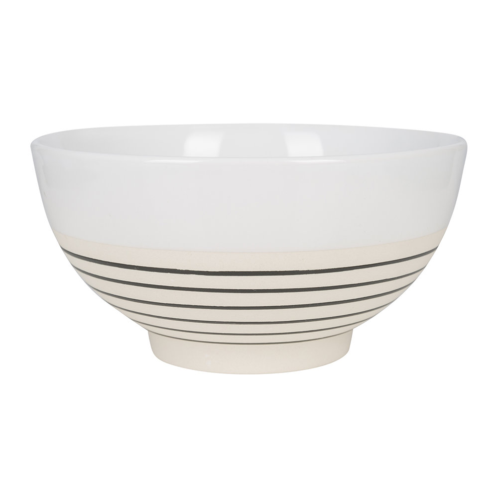 Canvas Home - Clef Stripe Cereal Bowl - Black/White