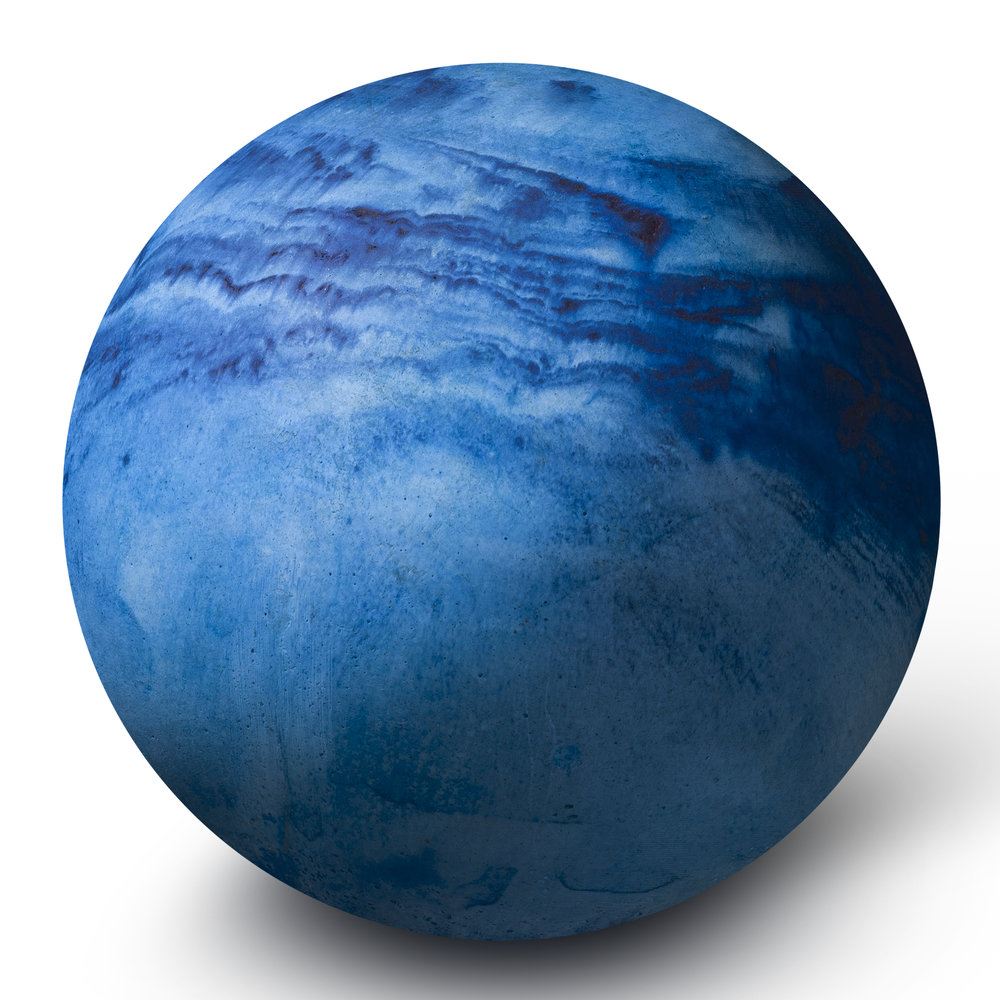 Moxon - Planet Paperweight - Large - Blue