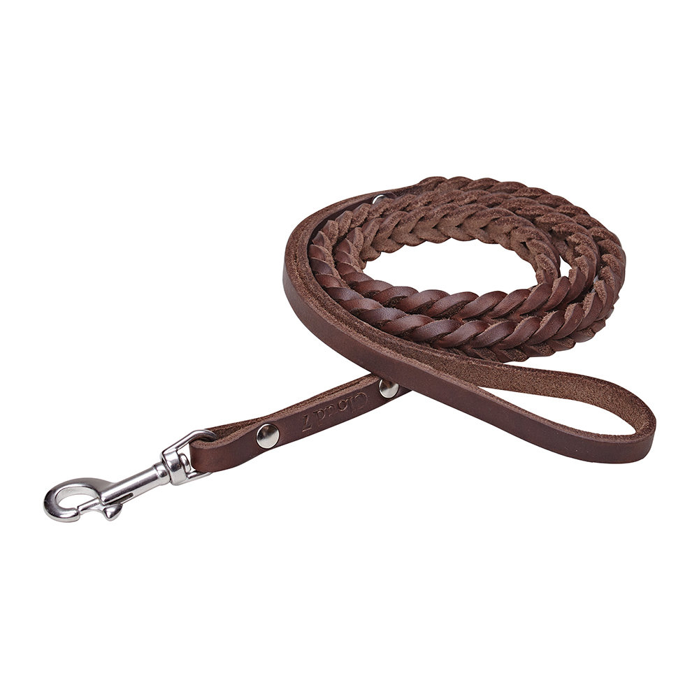 Cloud 7 - Braided Central Park Lead - Saddle Brown