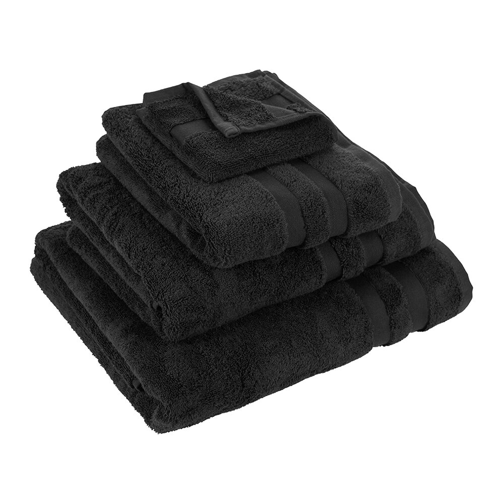 Essentials - Pima Towel - Black - Bath Towel