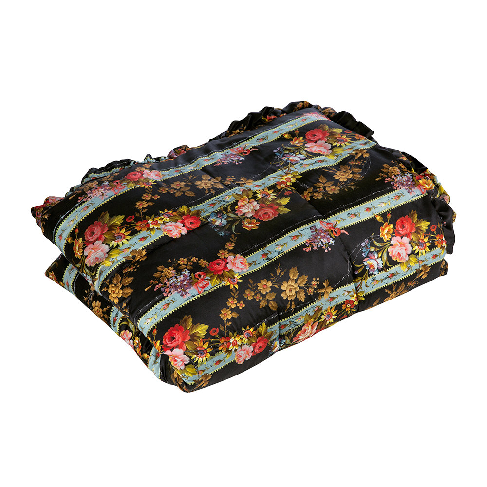 Preen by Thornton Bregazzi - Barbed Wire Bouquet Quilted Eiderdown - Stone/Black - 140x205cm