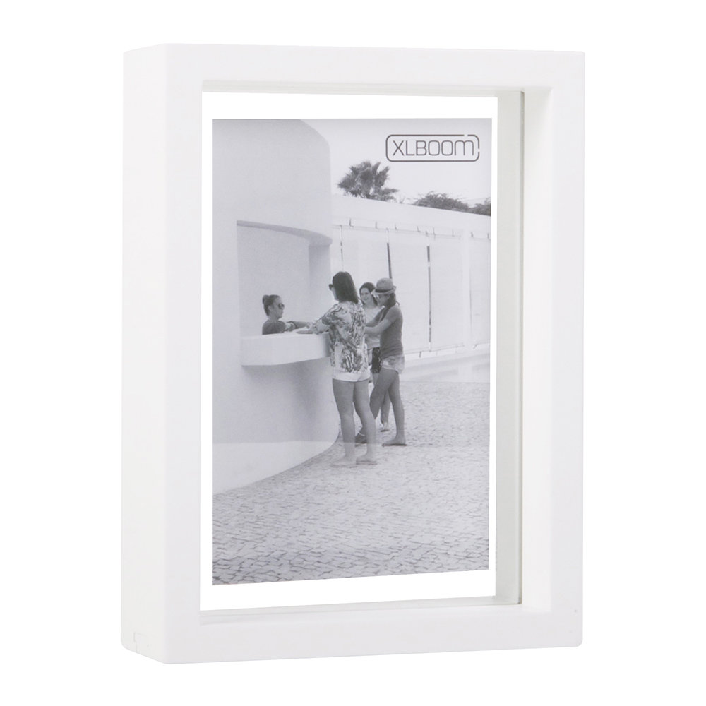 XLBoom - Floating Photo Frame Box - White - 5x7""