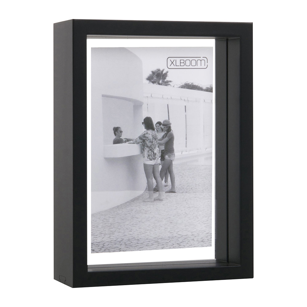 XLBoom - Floating Photo Frame Box - Coffee Bean - 5x7""