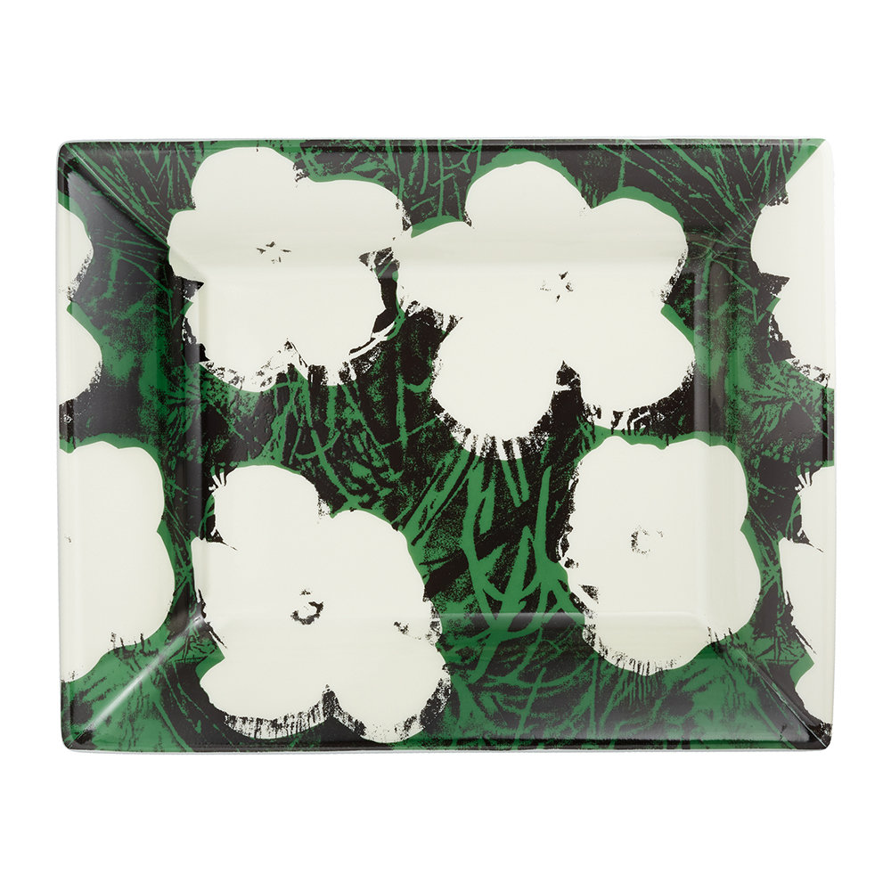 Ligne Blanche - Andy Warhol Tray - Flowers - White
