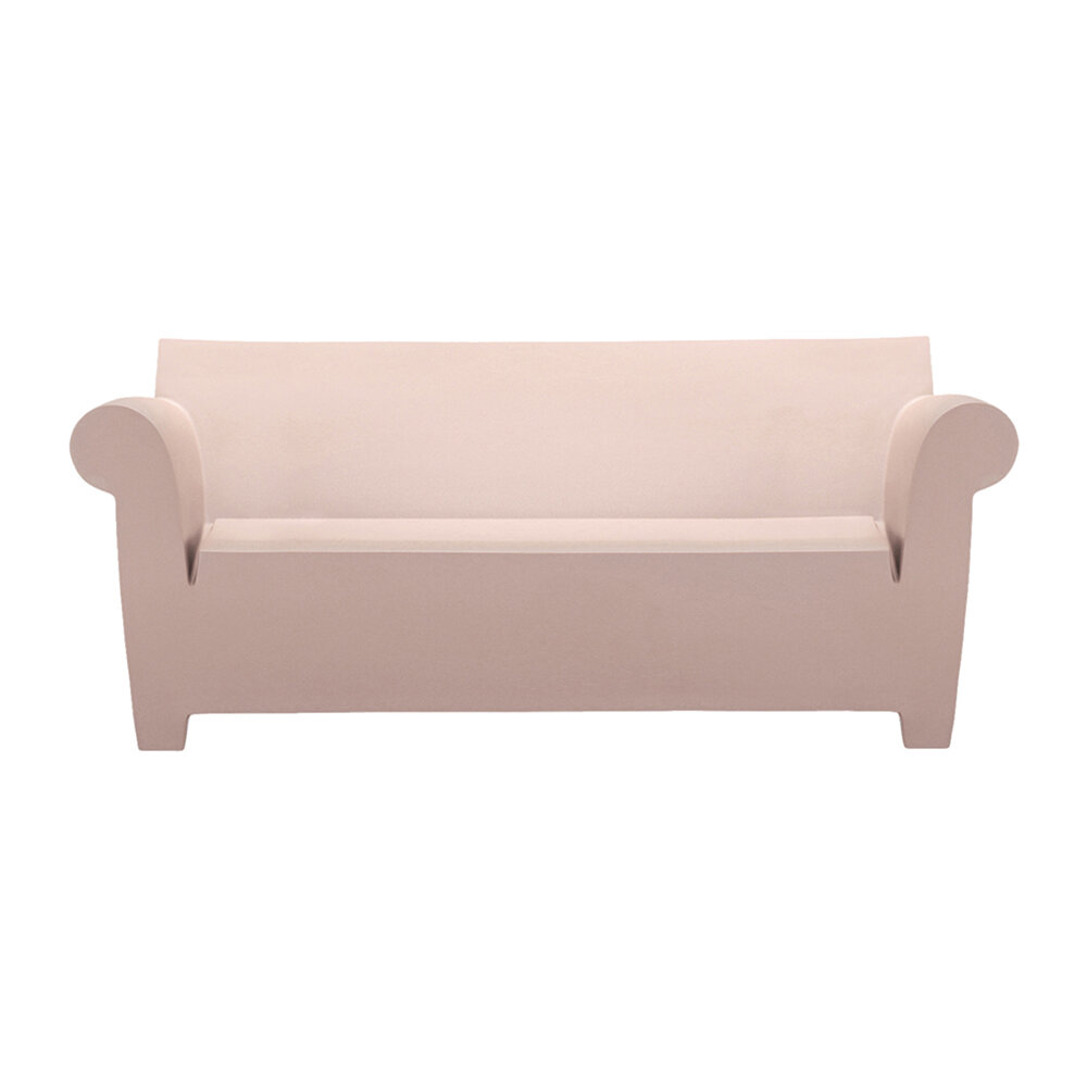 Kartell - Bubble Club Two Seater Sofa - Powder