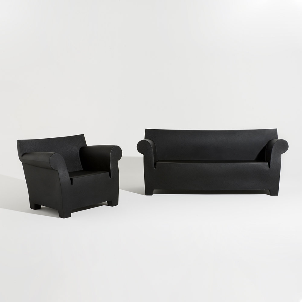 Kartell - Bubble Club Two Seater Sofa - Black