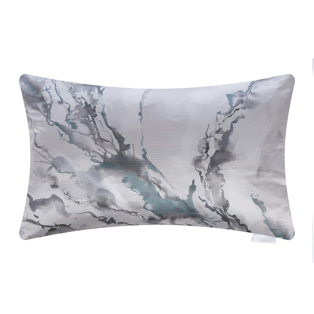 Voyage Maison - Ink Abstraction Cushion - 40x60cm - Smoke