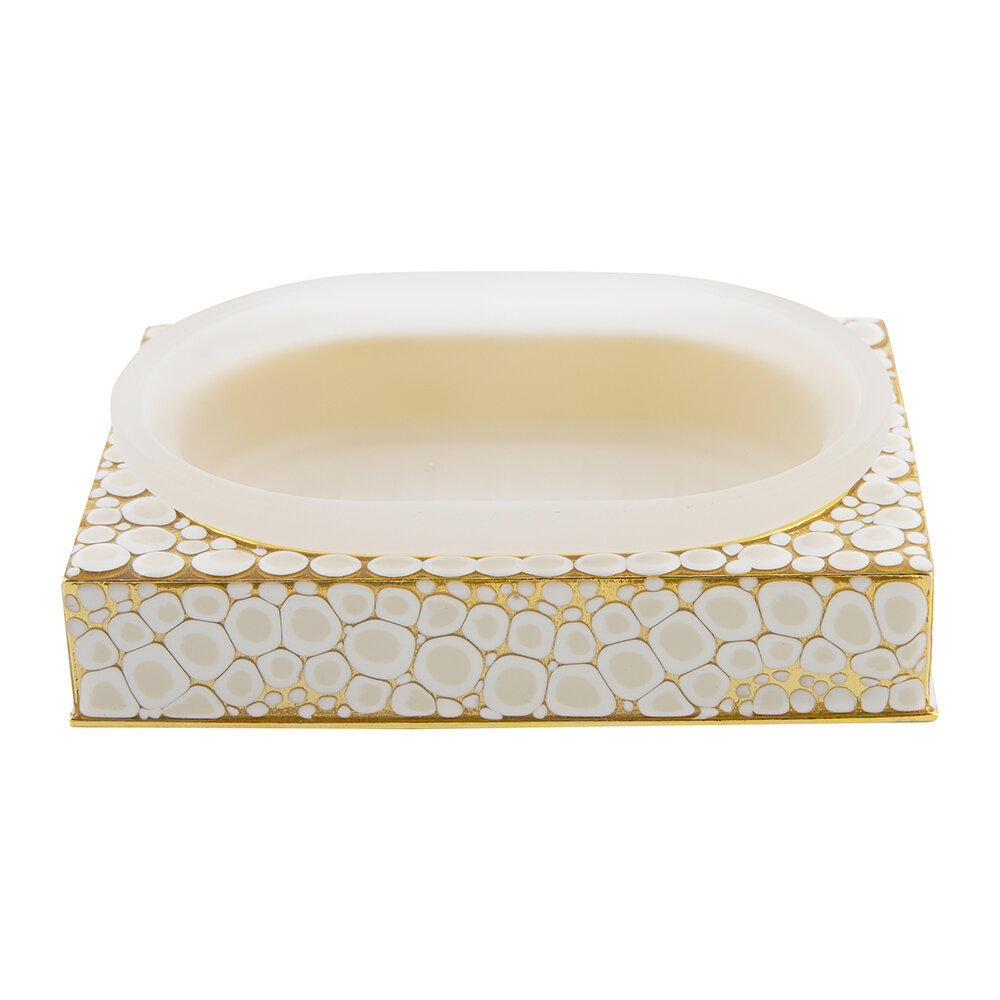 Mike + Ally - Proseco Soap Dish - Oatmeal/Gold