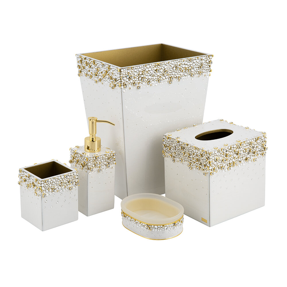 Mike + Ally - Duchess Soap Dispenser - Pearl/Gold