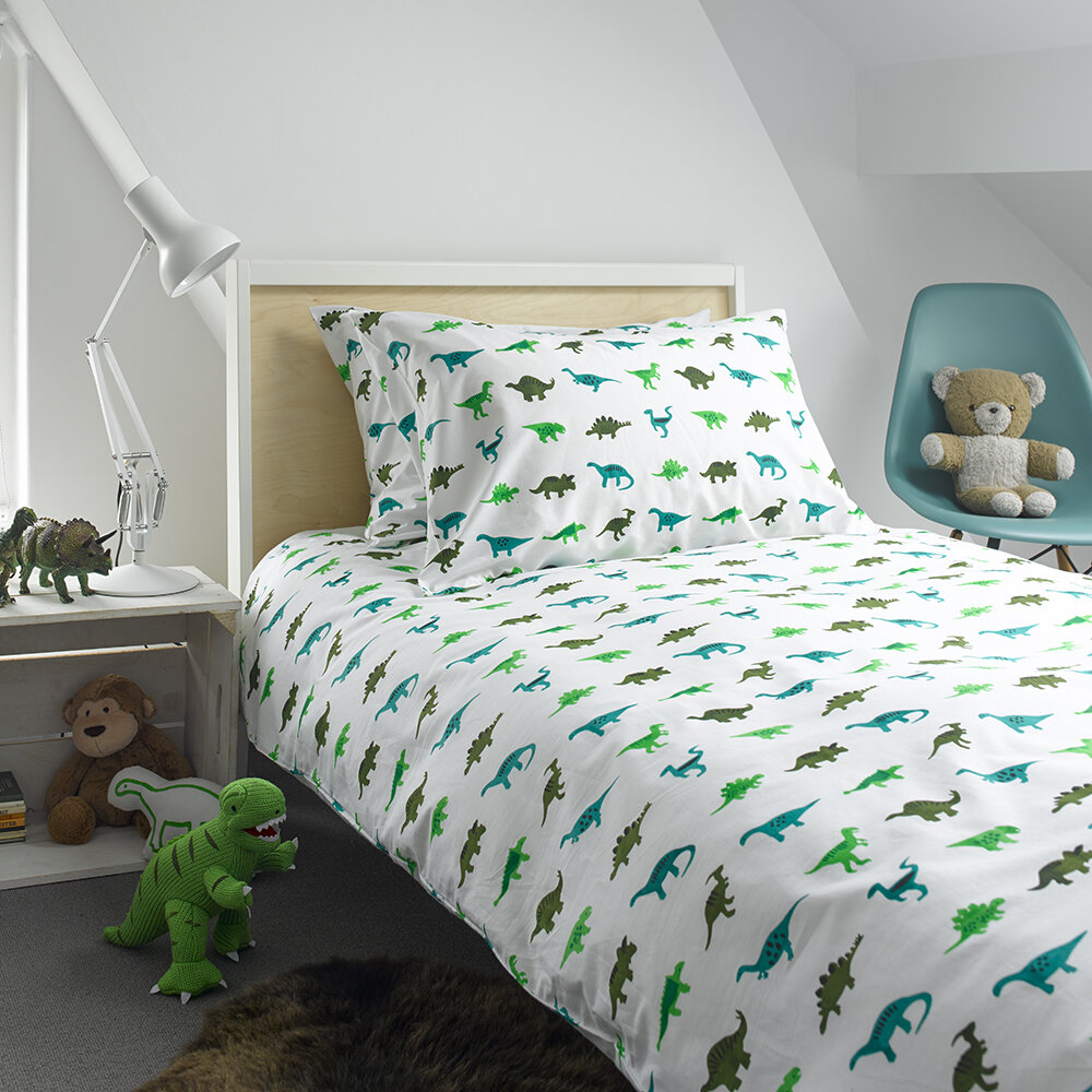 Lulu  Nat - Bedlinen Set in Bag - Dinosaur - Single