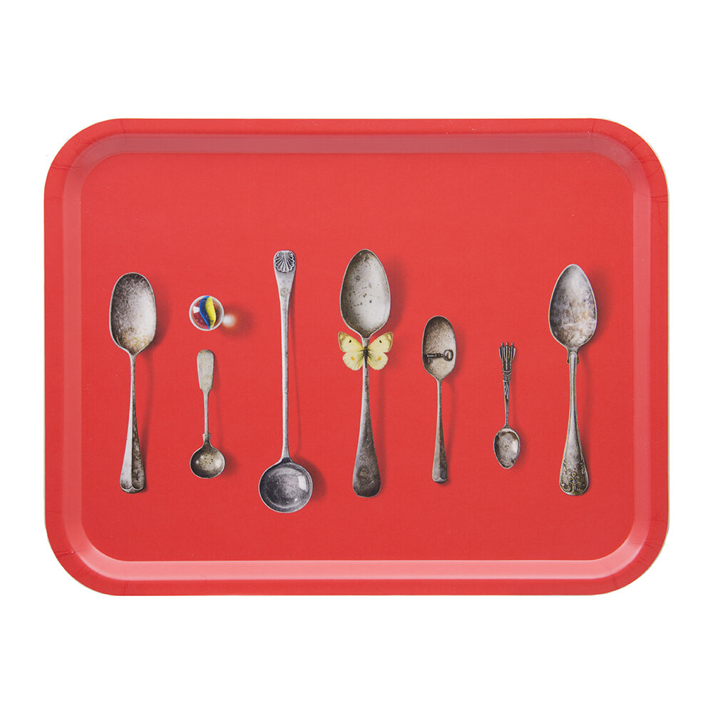 Michael Angove - Cutlery Rectangular Tray - Red