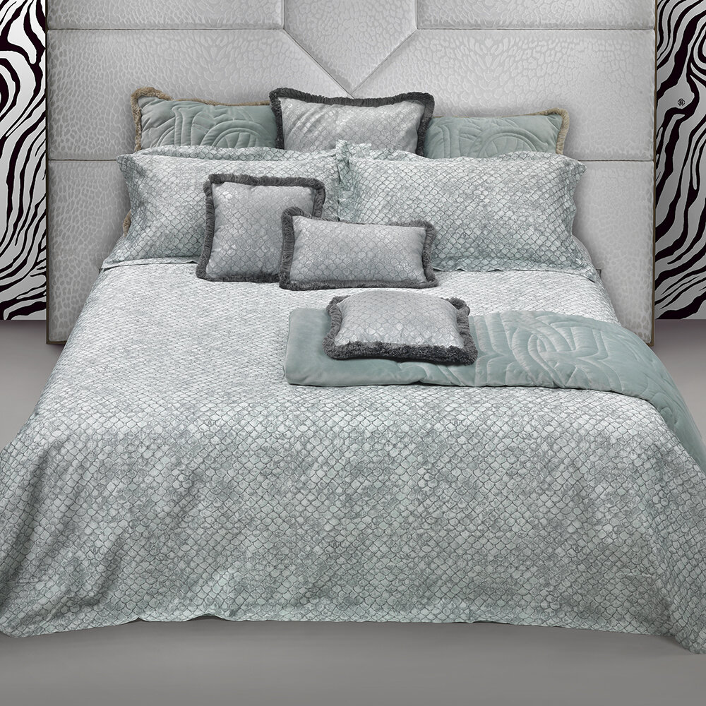 Roberto Cavalli - Flakes Bed Set - Water - Super King