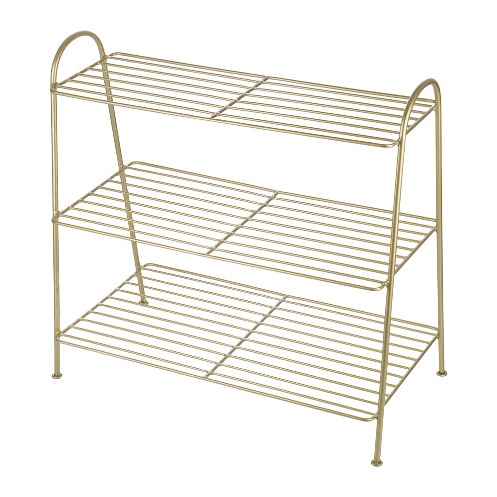 Image of A by AMARA - Brass Shoe Rack - 3 Tier