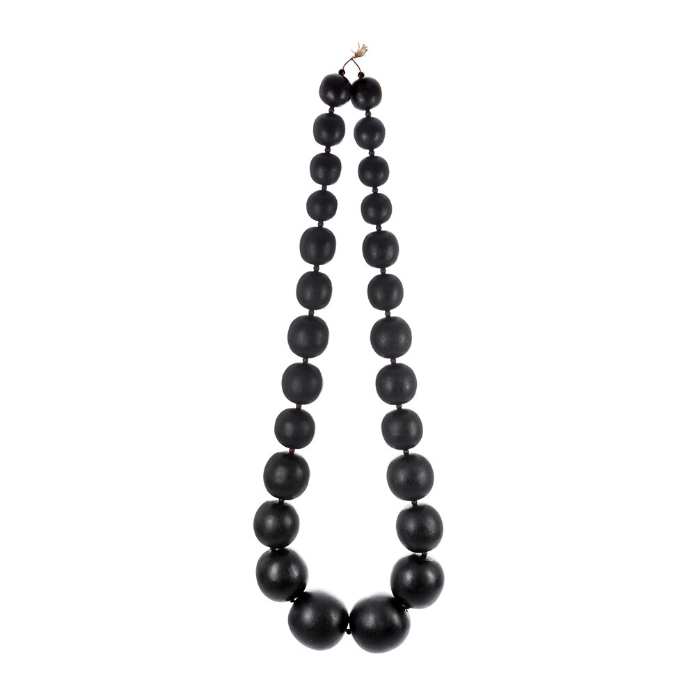 Image of A by AMARA - Black Large Bead Wall Hanging