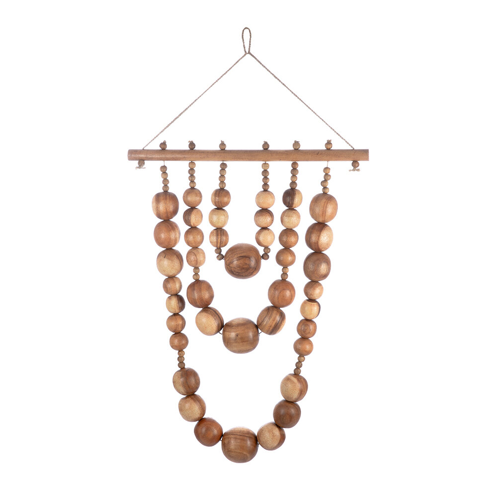 Image of A by AMARA - Wooden Bead Wall Hanging