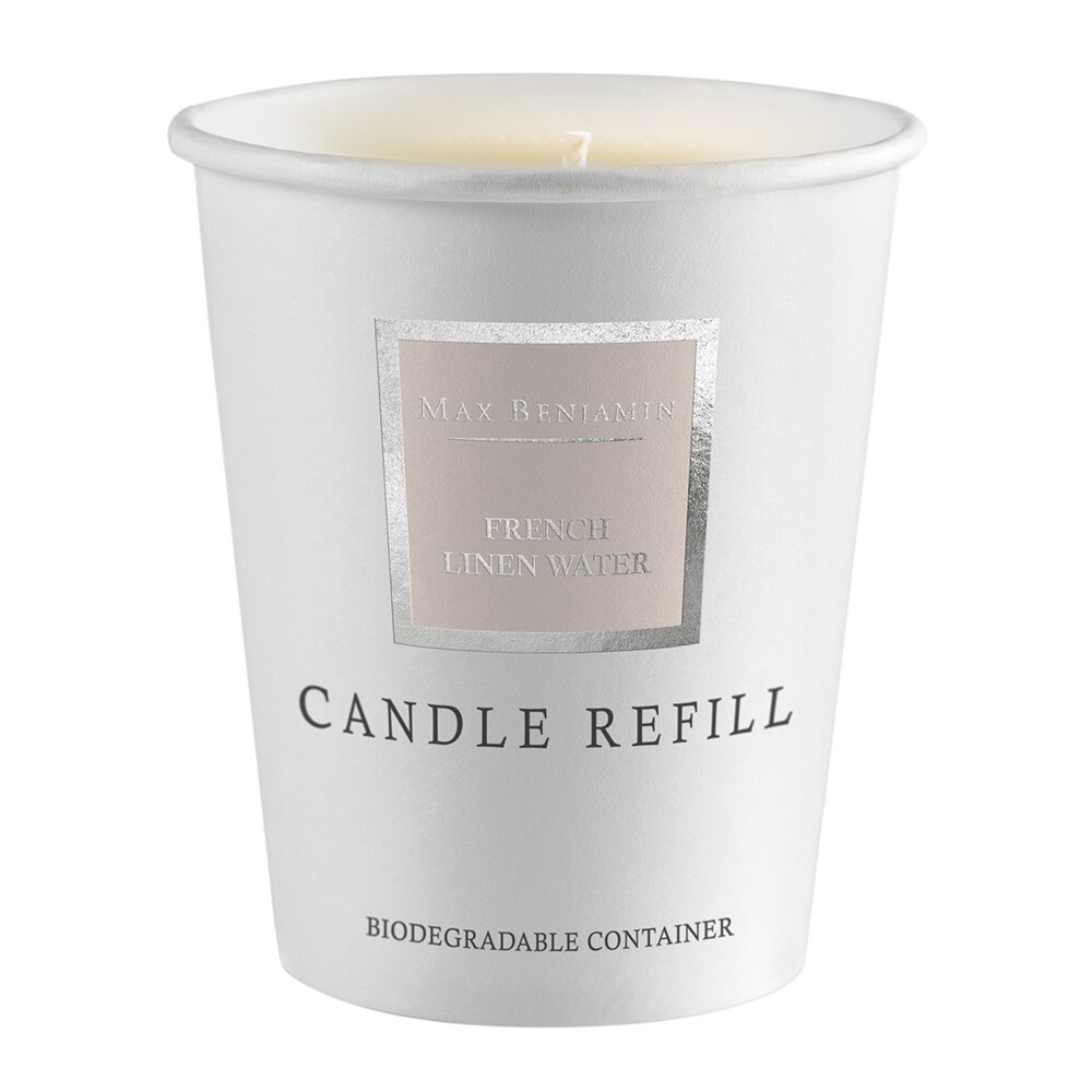 Max Benjamin - Scented Candle Refill - 190g - French Linen Water