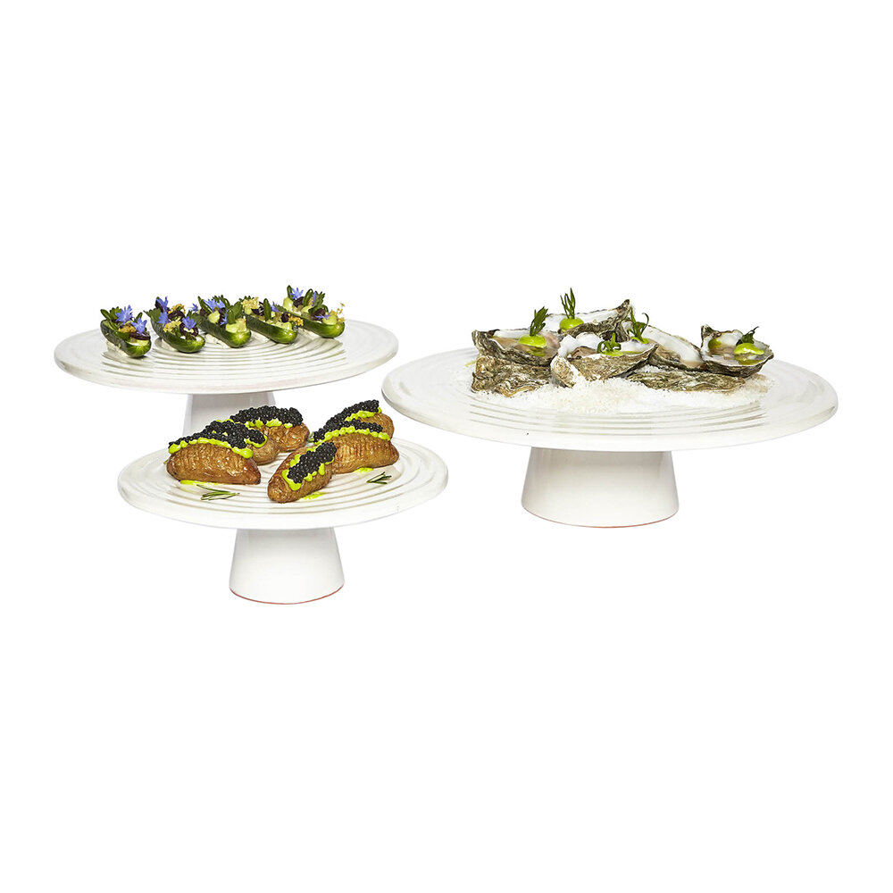 DutchDeluxes - Ceramic Food Stand - White - Large