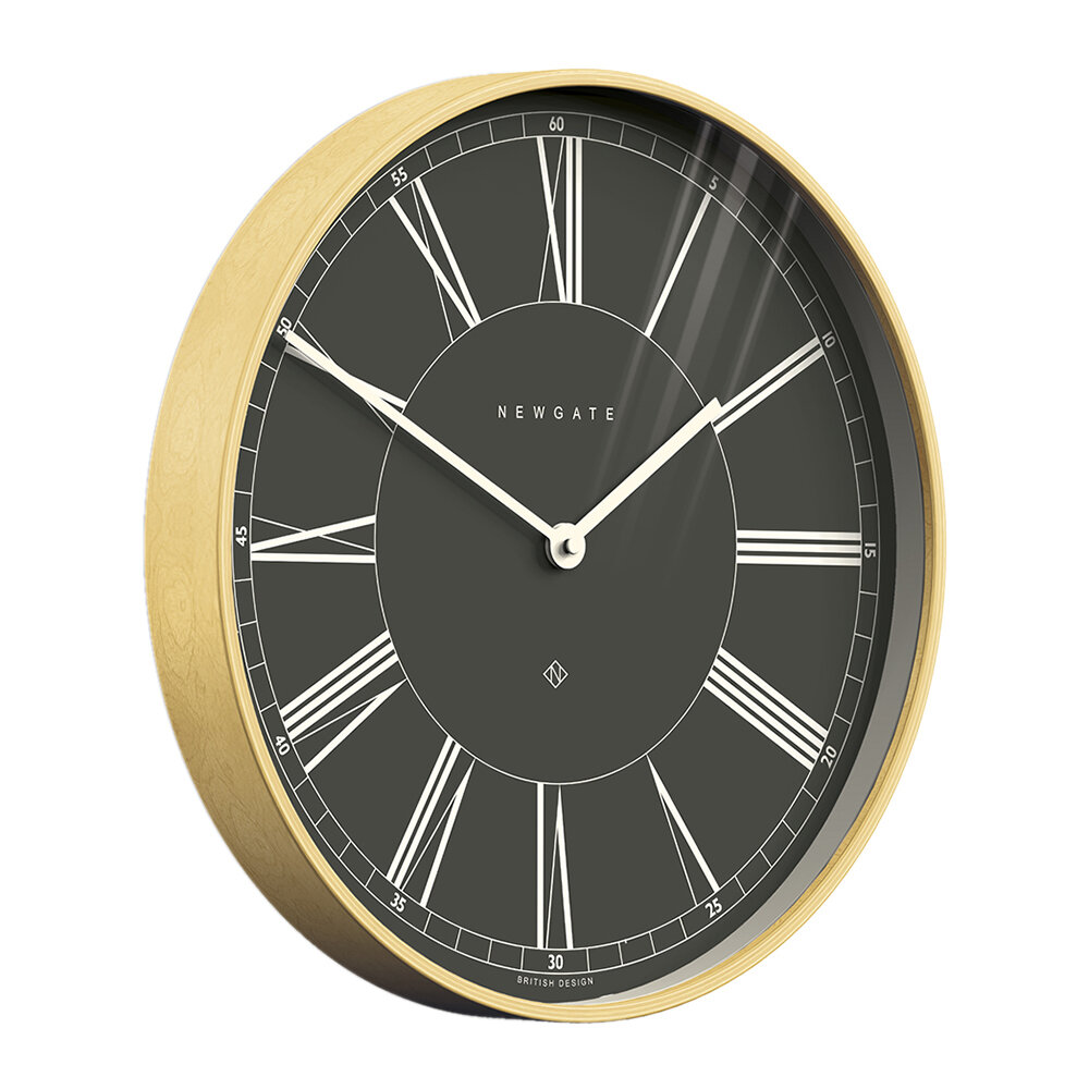 Newgate Clocks - Architect Wall Clock - Black