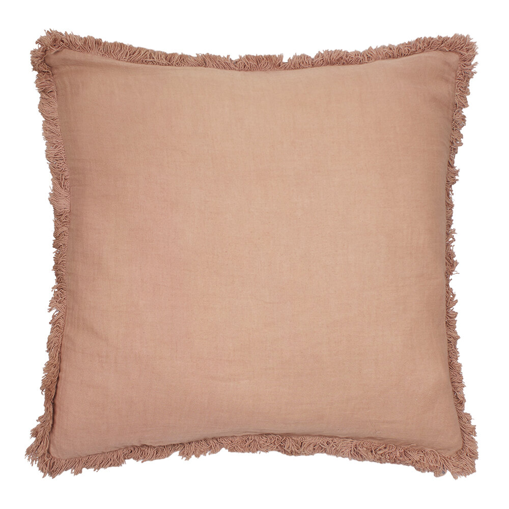À la - Cushion Cover with Fringing - Coral