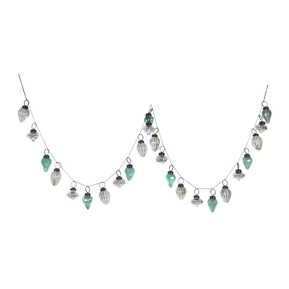 Image of A by AMARA Christmas - Bauble Garland - Blue/Silver/White
