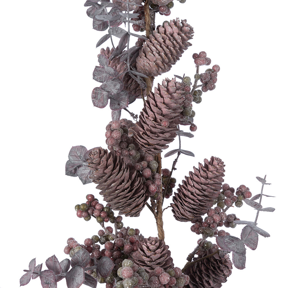 A by AMARA - Berry & Pinecone Branch - Burgundy