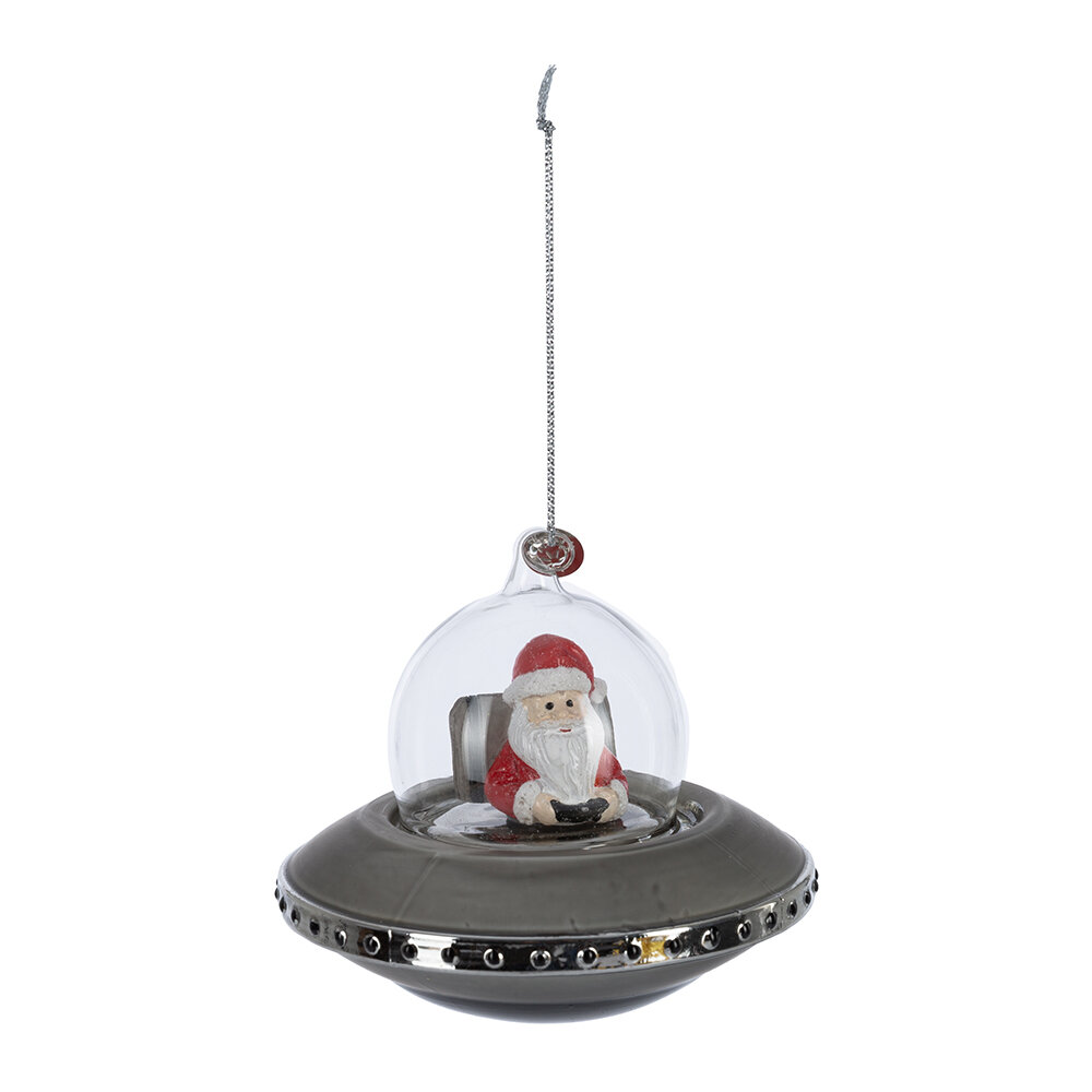 Image of A by AMARA Christmasanta in Spaceship Tree Decoration