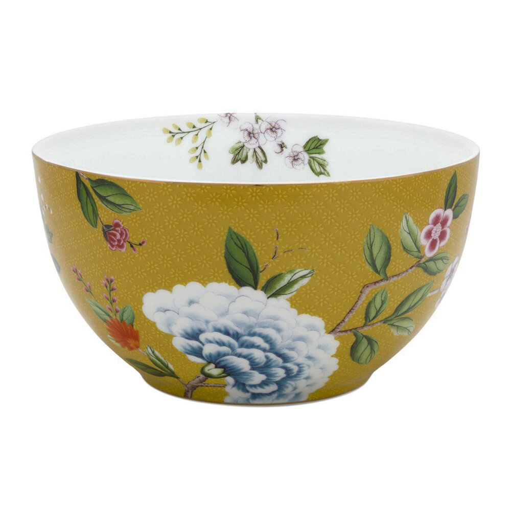 Pip Studio - Blushing Birds Bowl - Yellow - 15cm
