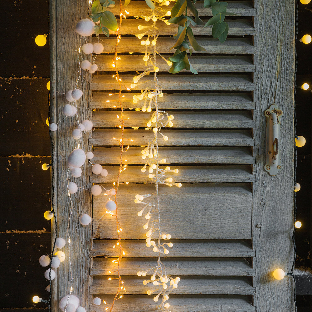A by Amara Christmas - 288 Berry Cluster Lights - Warm White