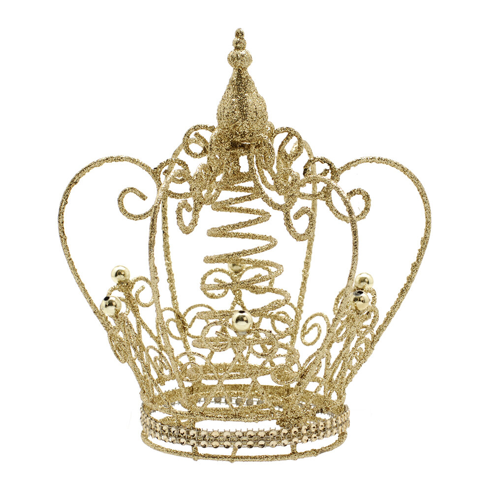 Image of A by AMARA Christmas - Glitter Crown Tree Topper - Gold