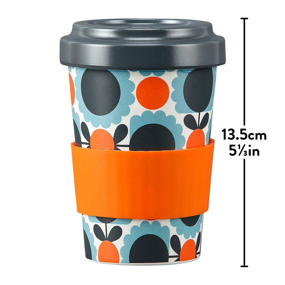 Orla Kiely - Bamboo Travel Cup - Scallop Flower Sky