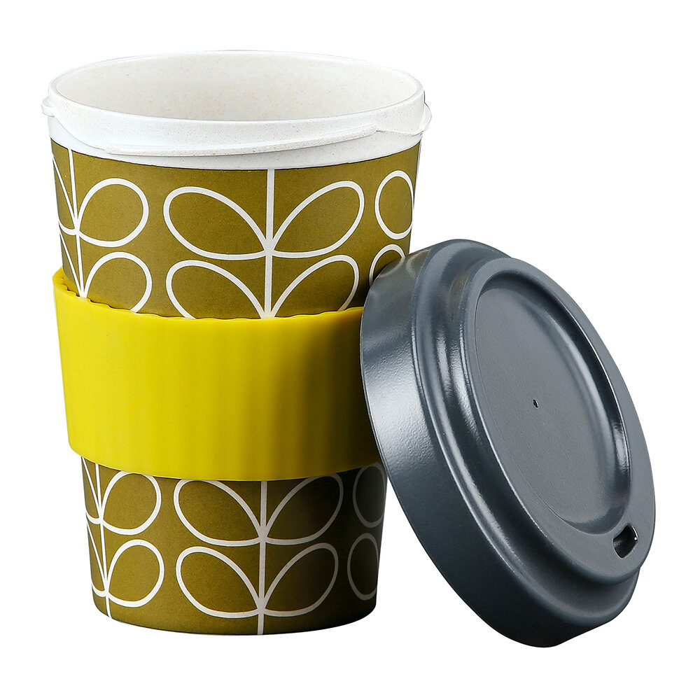 Orla Kiely - Bamboo Travel Cup - Linear Stem Lichen