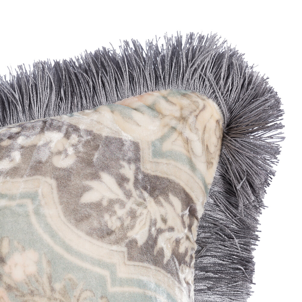 Etro - Arles Bizet Cushion with Piping - 60x60cm - Grey