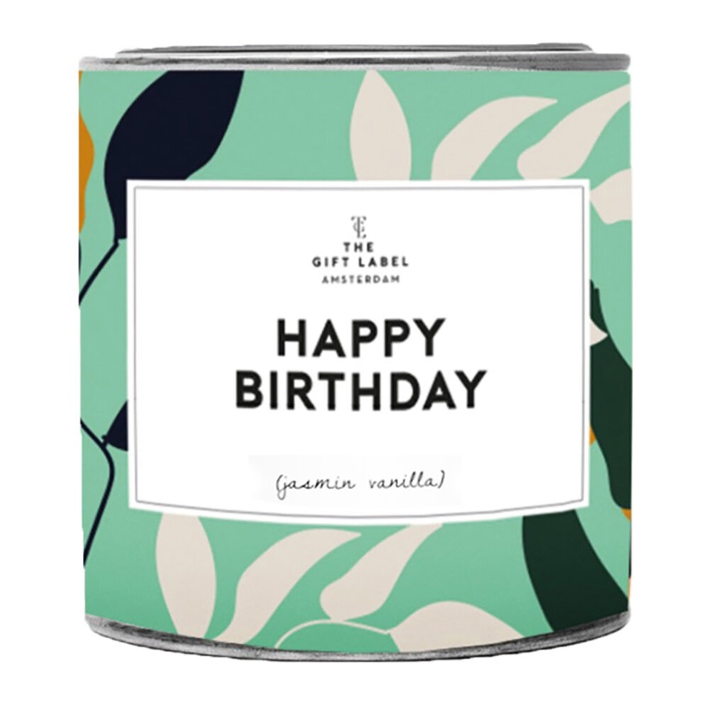 The Gift Label - Candle Tin - Large - Happy Birthday