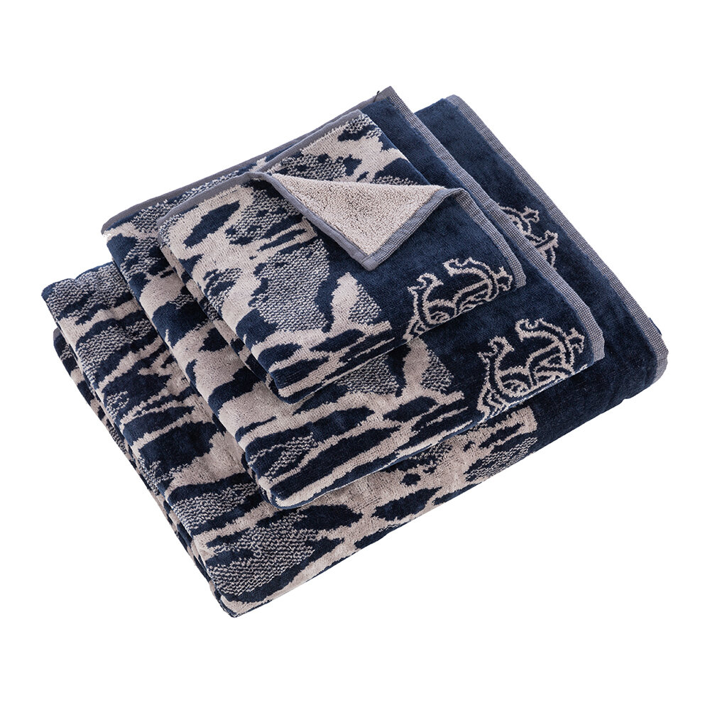 Roberto Cavalli - Linx Towel - Blue - Bath Sheet
