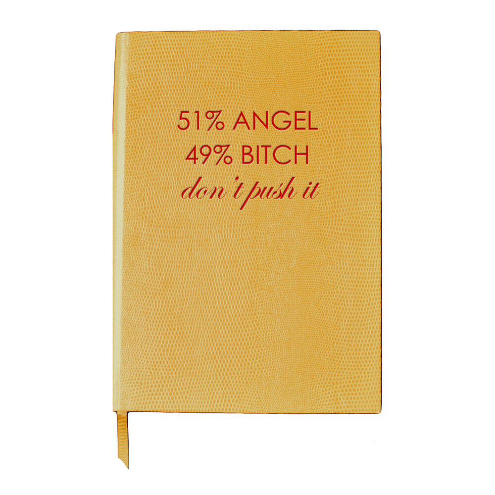 Sloane Stationery - A5 Notebook - Girl With Attitude - '51/49'