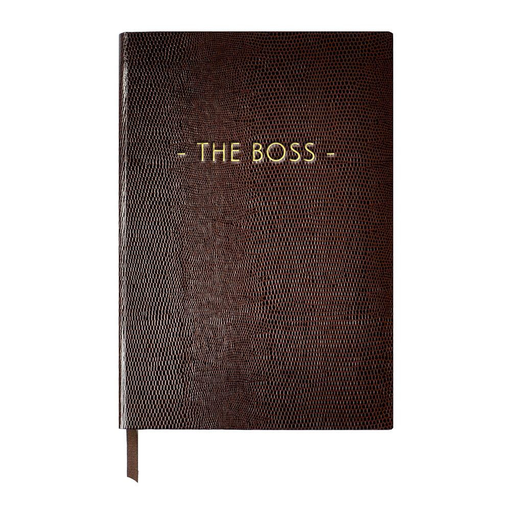 Sloane Stationery - A5 Notebook - Wise and Witty - 'The Boss'