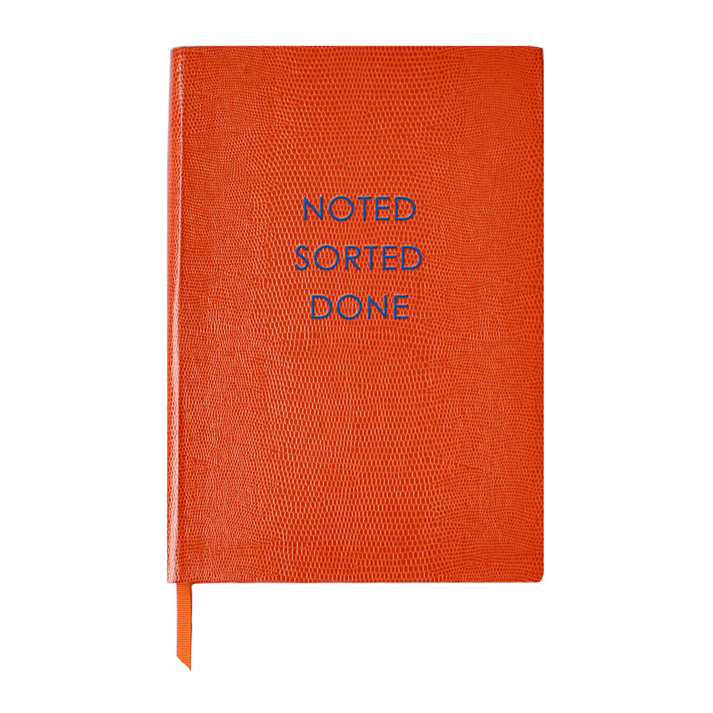 Sloane Stationery - Journal - 'Noted Sorted Done'