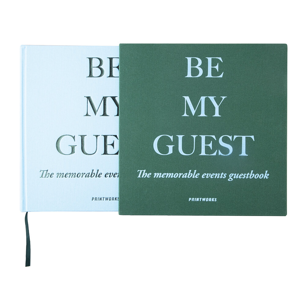 Printworks - 'Be My Guest' Guest Book - Green/Blue