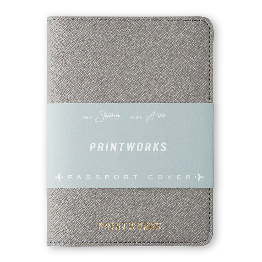 Printworks - Leather Passport Holder - Dove Grey