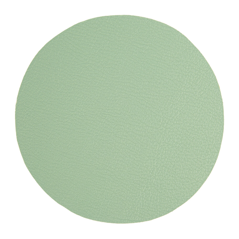 Essentials - Double Sided Vegan Leather Coasters - Set of 4 - Green