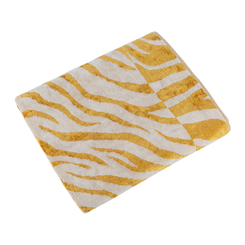 Carrara - Animalier Towel - Gold - Bath Sheet