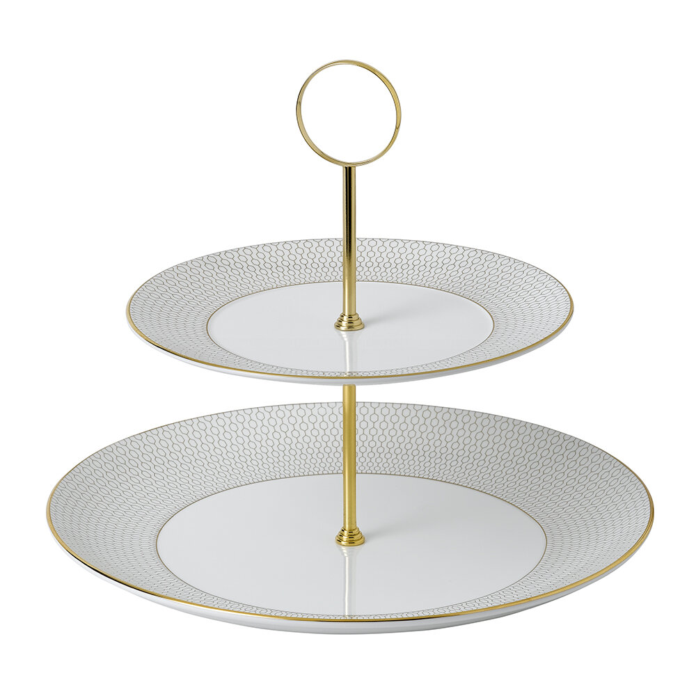 Wedgwood - Arris Cake Stand - 2 Tier