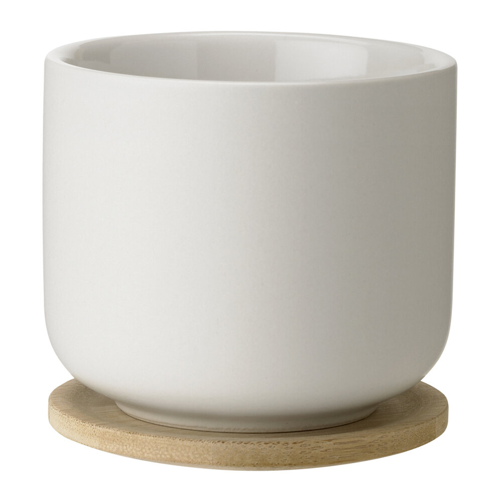 Stelton - Theo Teacup with Coaster - Sand