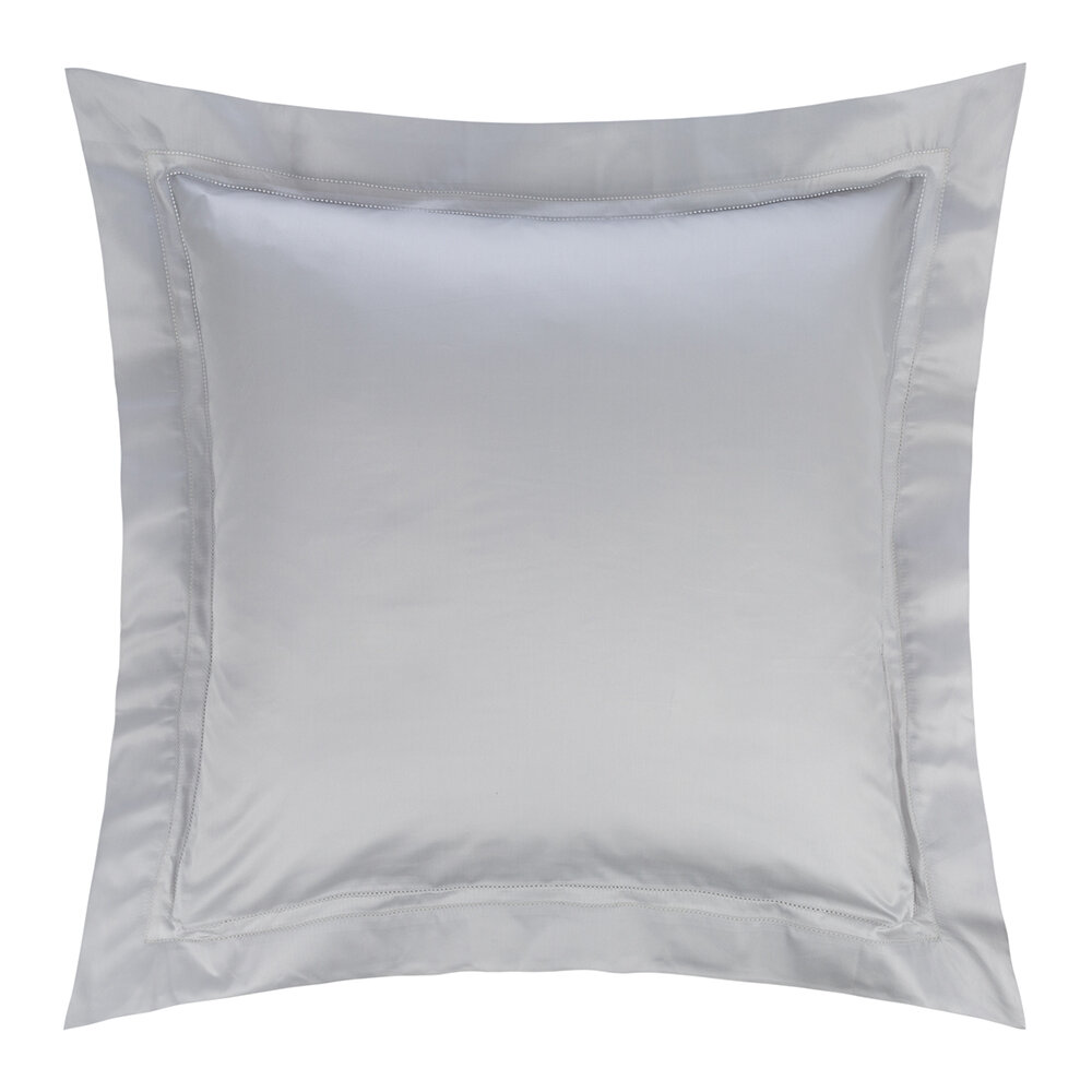 Frette - Doppio Ajour Pillowcase - 65x65cm - Gray